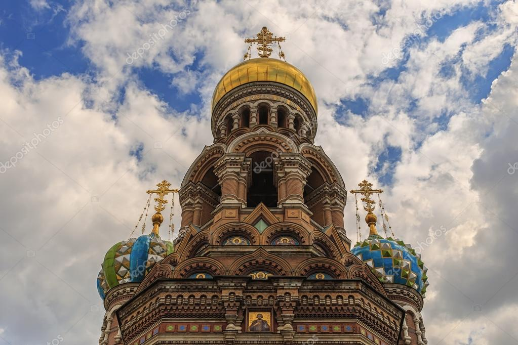 The Church of Savior Spilled Blood, one main sights  St. Petersburg, Russia. This built on site where Tsar Alexander II was assassinated and dedicated in his memory.