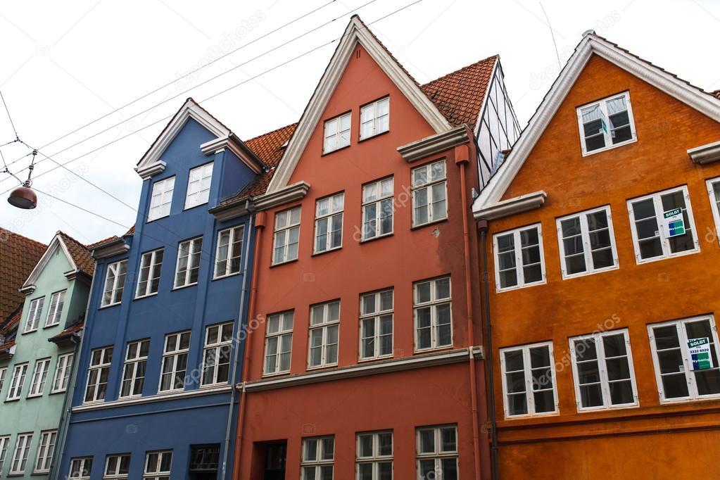 Häuser In Dänemark bunten dänische häuser stockfoto sashk0 101464868