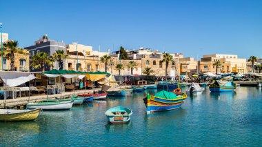 Boats in bay of Malta