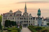 Mont des Arts zahrady a radnici v Bruselu