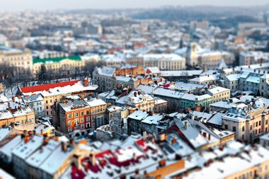 Lviv city aerial view