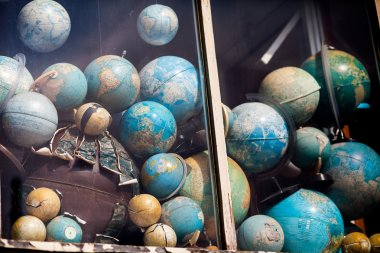 Vintage world globes