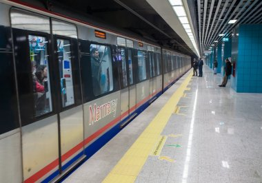 Marmaray subway station and train