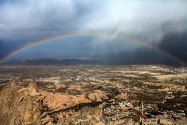 rainbow in the mountain city