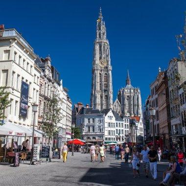 Ancient Belfry in the city of Antwerp