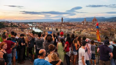 Tourists watching on Florence cityscape