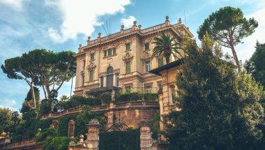 View of luxury villa in Rome