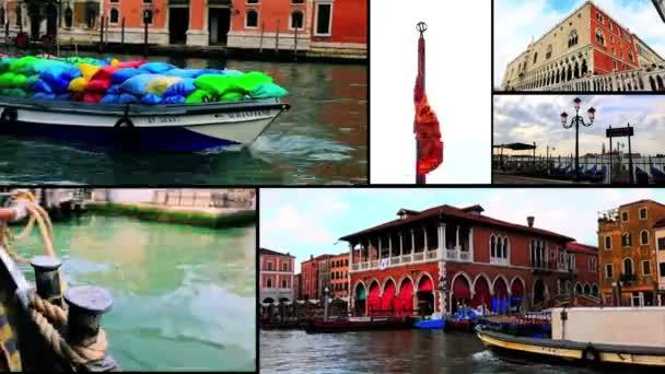 Koláž záběrů v Benátkách