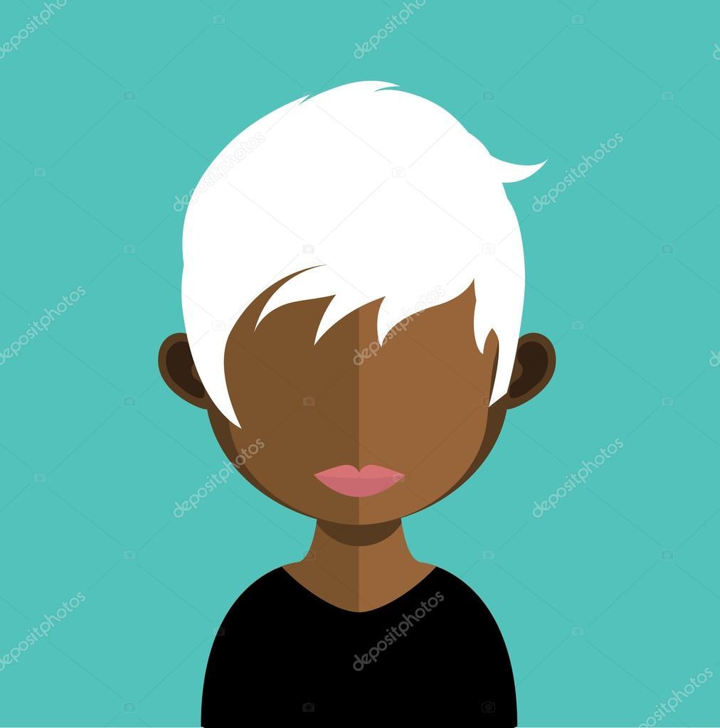 Image D Avatar caractère d'avatar femme — image vectorielle sky-designs © #120728004
