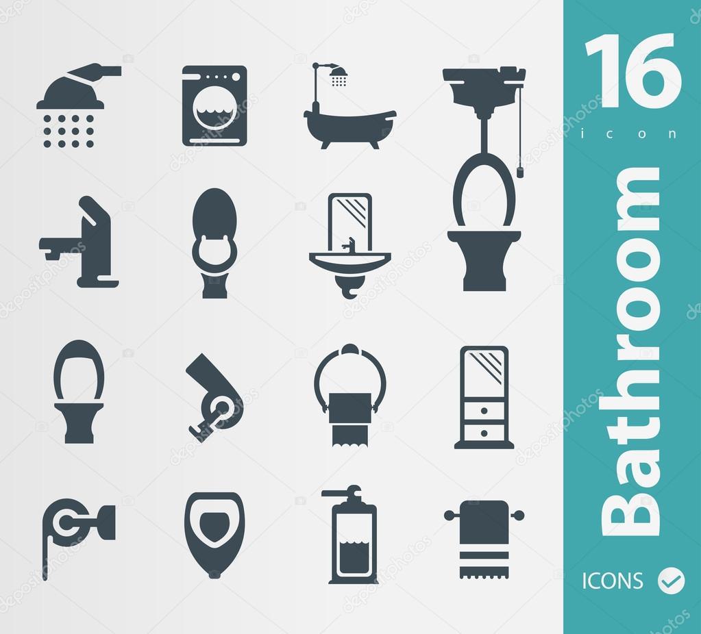 Set Badezimmer-icons — Stockvektor © Sky-Designs #56695887