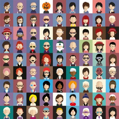 People faces icons