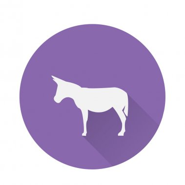 Round donkey icon