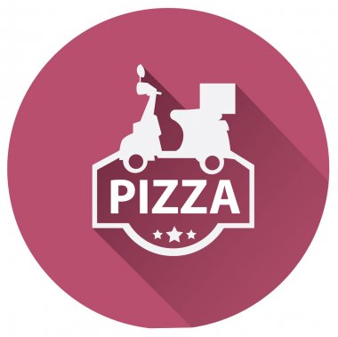 Pizza delivery motor icon