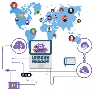 World Networking  people icons