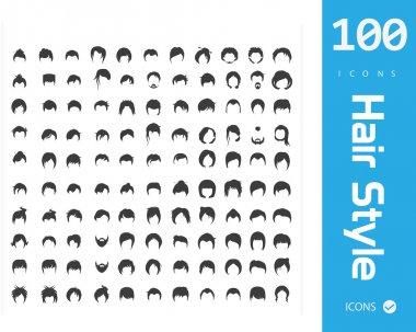 Hair style icons vector illustration clip art vector