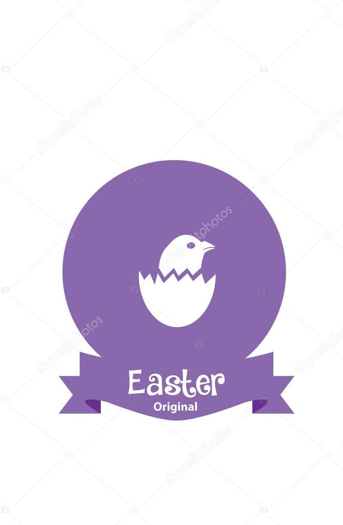 Easter Card With Chicken