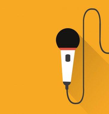 Microphone icon (long shadow)