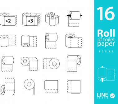 Set of Toilet Paper icons