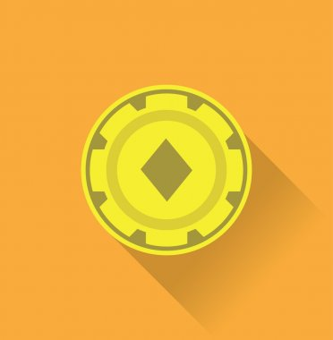 casino token, gambling symbol