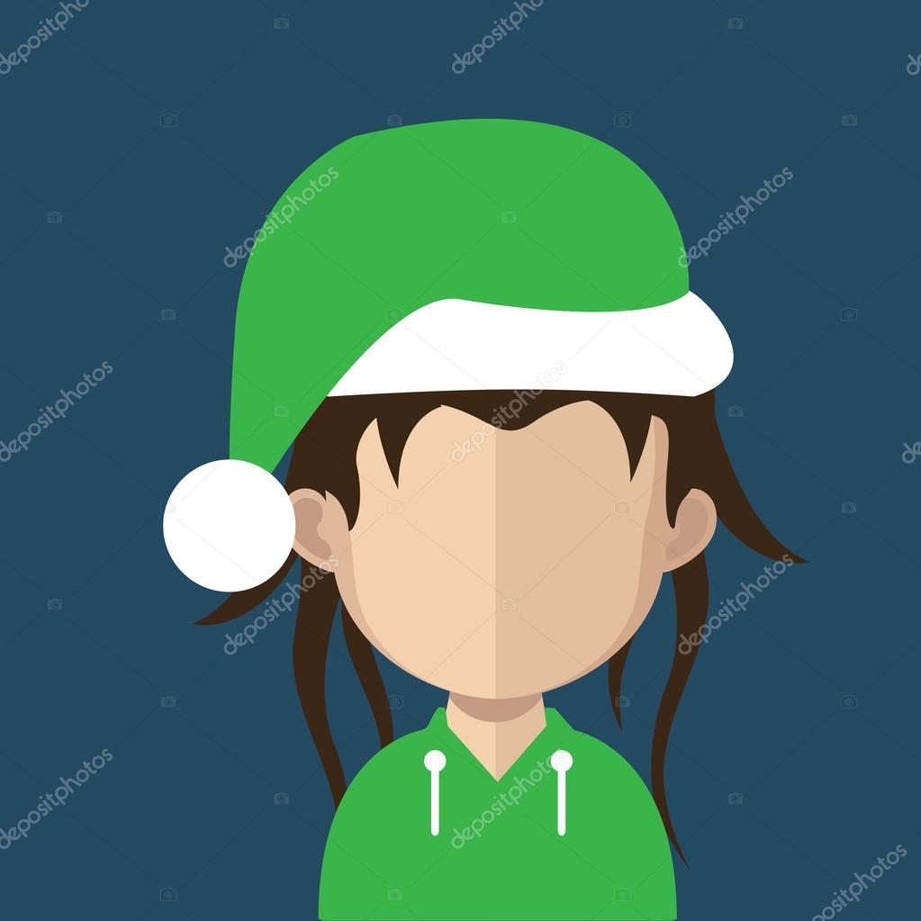 Woman Christmas avatar — Stock Vector © Sky-Designs #85803228