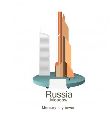 Mercury city tower in Moscow