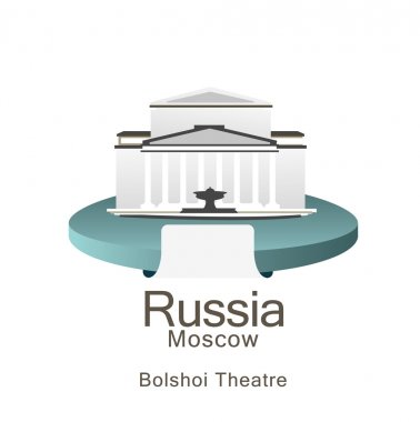 Bolshoi Theatre in Moscow symbol