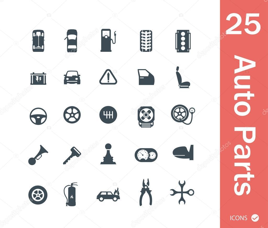 Autoteile, Informationen über Symbole — Stockvektor © Sky-Designs ...
