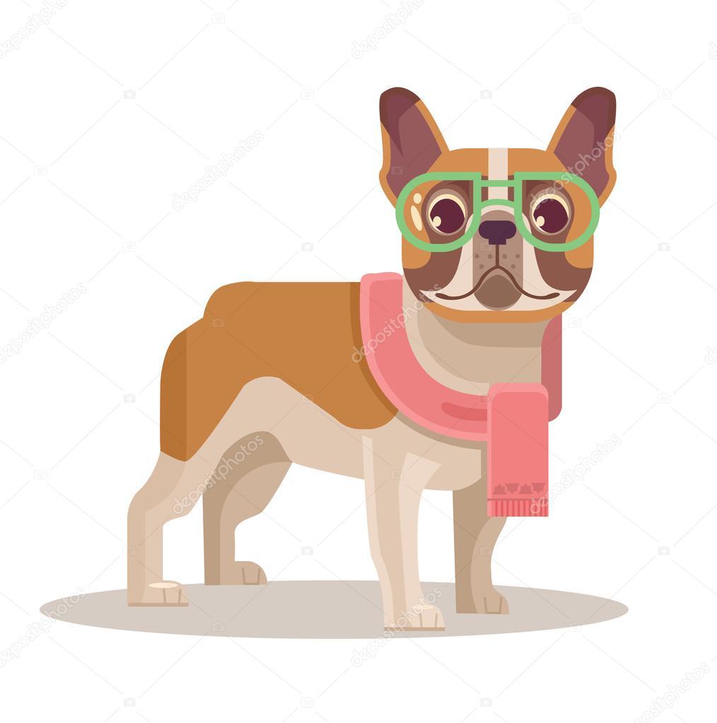 Bouledogue fran ais illustration de dessin anim plane - Bulldog dessin anime ...