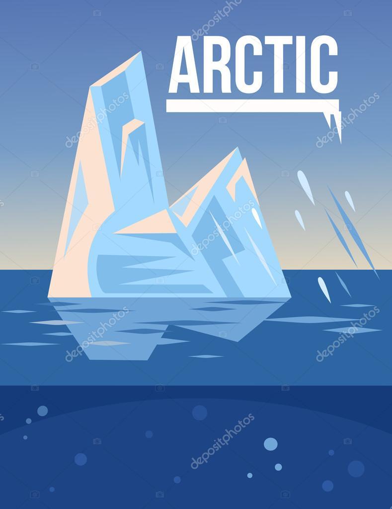 Arctic vector flat illustration