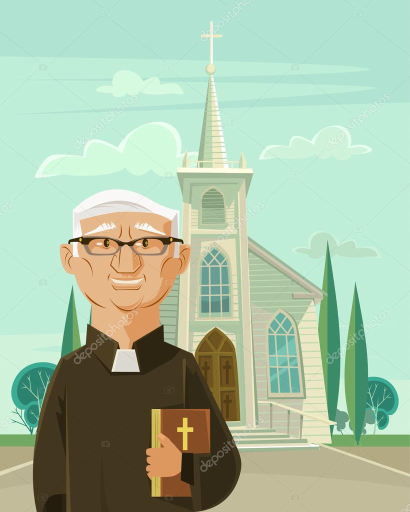 Sacerdote cat lico y la iglesia ilustraci n de dibujos for Stock cuisine saint priest