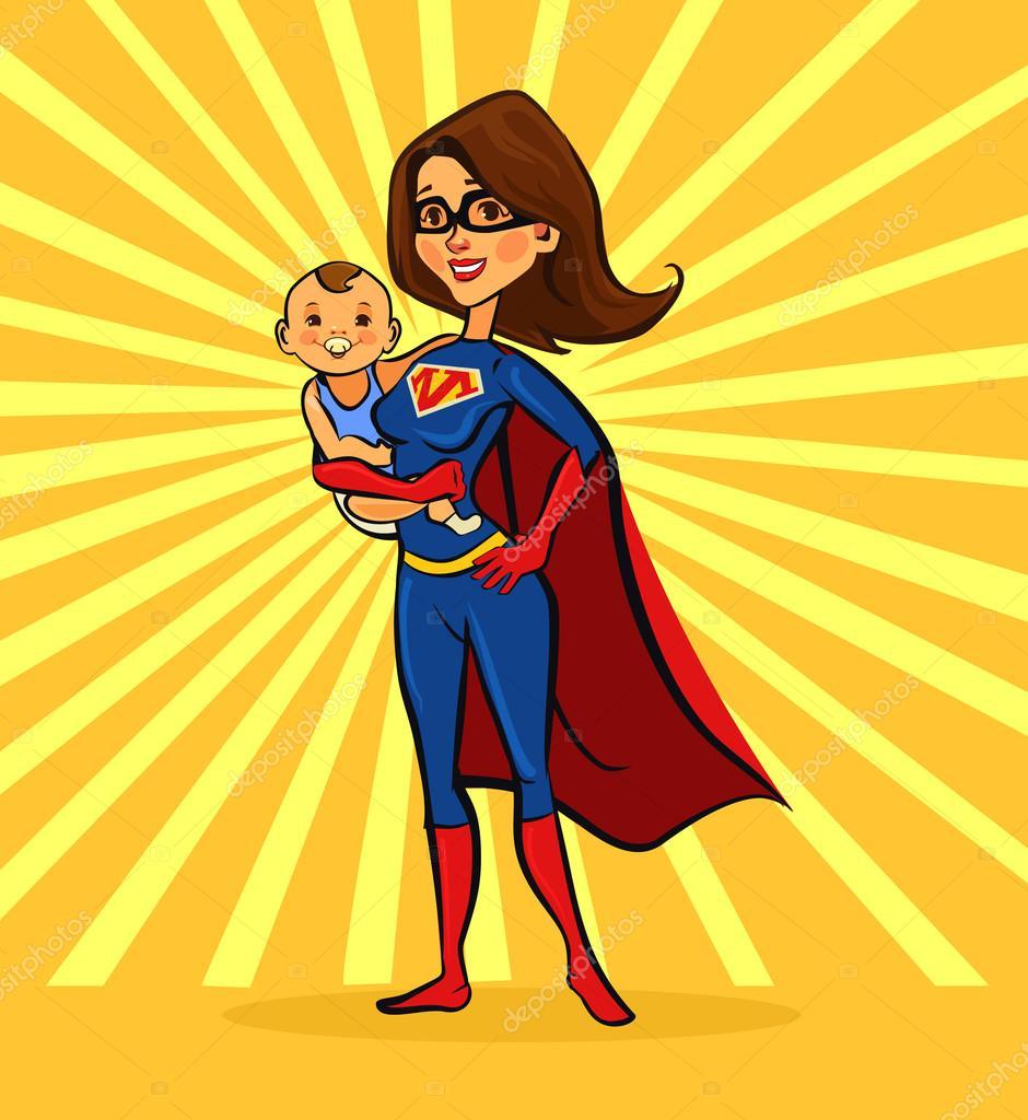Супер мама картинки для детей, прикольные картинки