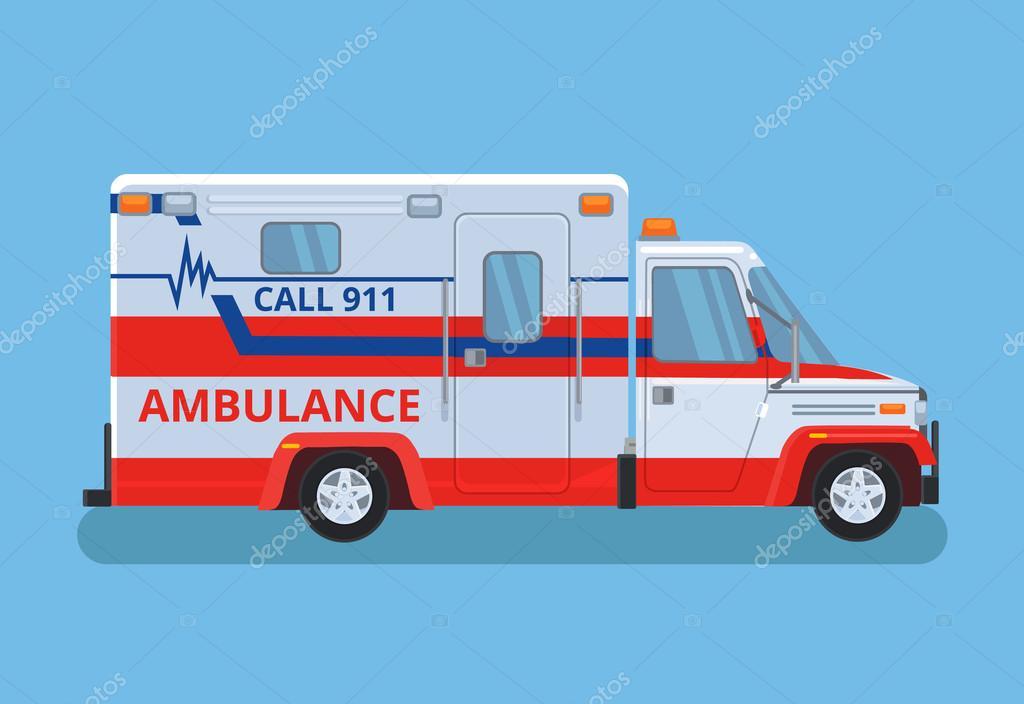 Voiture d ambulance illustration de dessin anim plane vectorielle image vectorielle - Dessin voiture stylisee ...