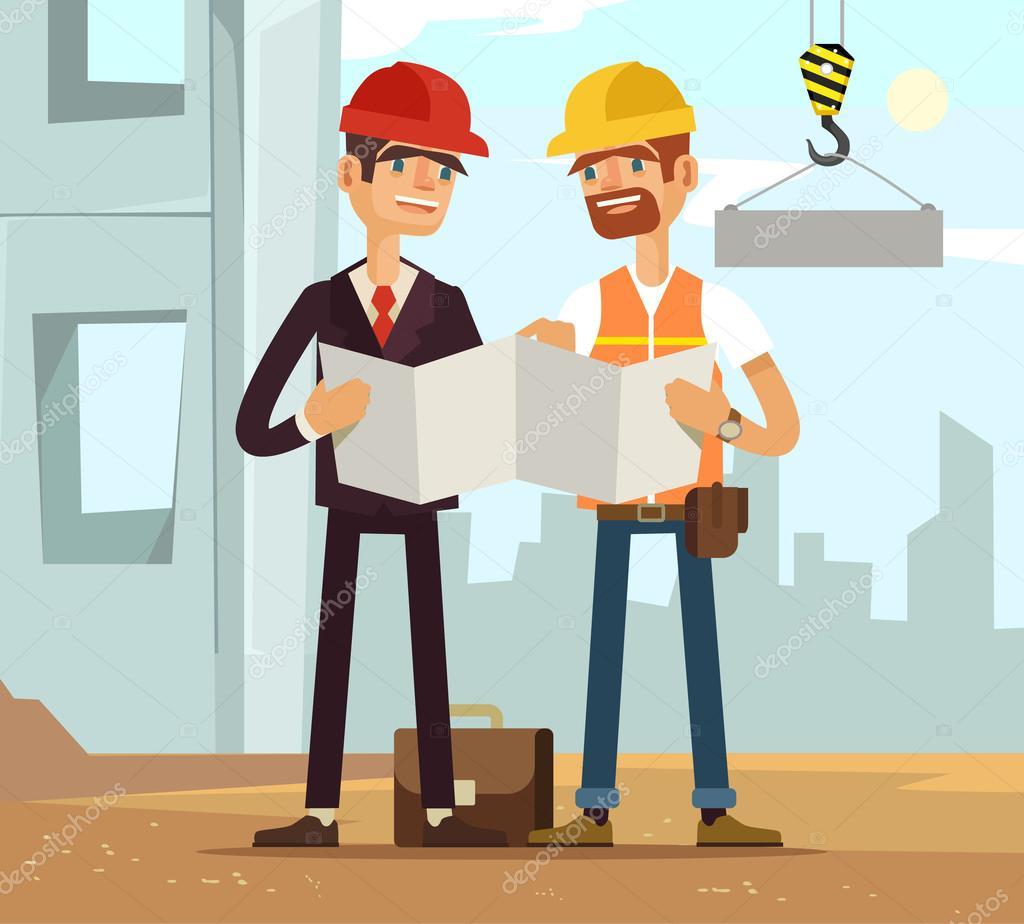 two builders builder and engineer builders read plan building