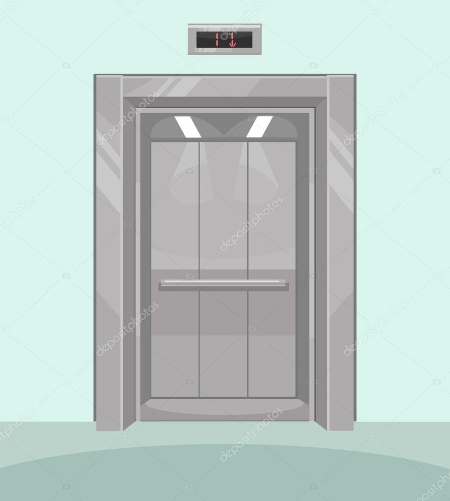 ascenseur ouvert ascenseur de fer avec les portes. Black Bedroom Furniture Sets. Home Design Ideas