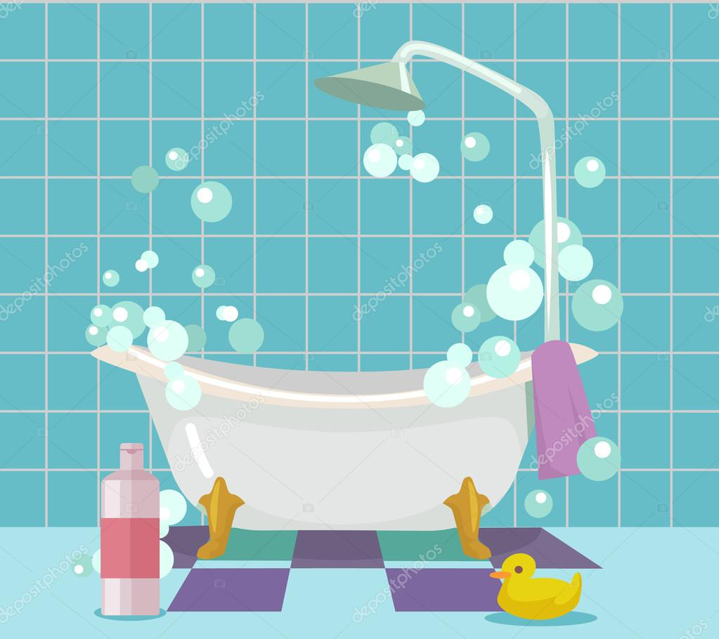 Int rieur de la salle de bain illustration de dessin for Logiciel dessin salle de bain