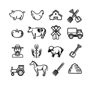 Stock vector farm pictogram icon set
