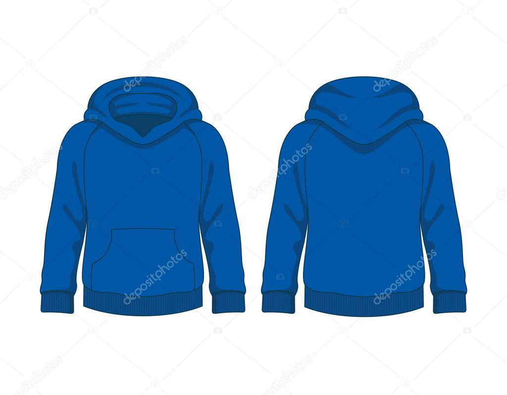 Kids hoodie. Vector template