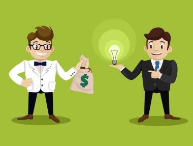 Sale of idea. Vector flat illustration