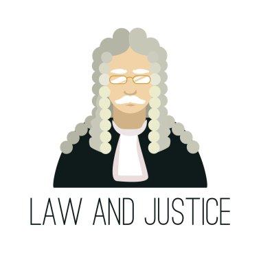 Vector flat judge illustration