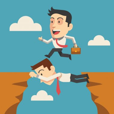 Vector business people flat illustration