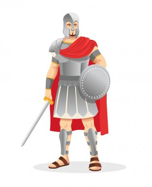 Gladiator. Vector illustration
