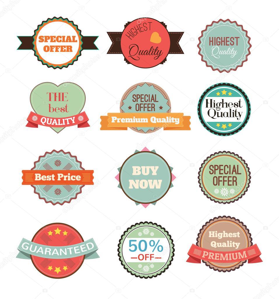 placas vintage vector stickers cintas banderas y etiquetas diseo grfico creativo