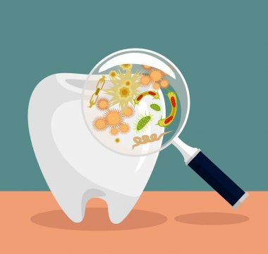 Vector flat dental illustration