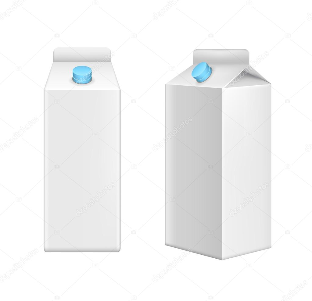 Juice box template vector