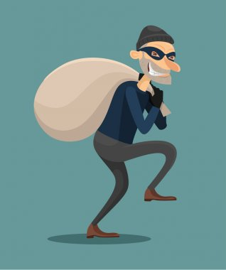 Thief vector flat illustration