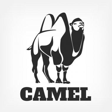 Camel. Vector black illustration