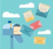 Vektorové ilustrace plochý poštovní schránka