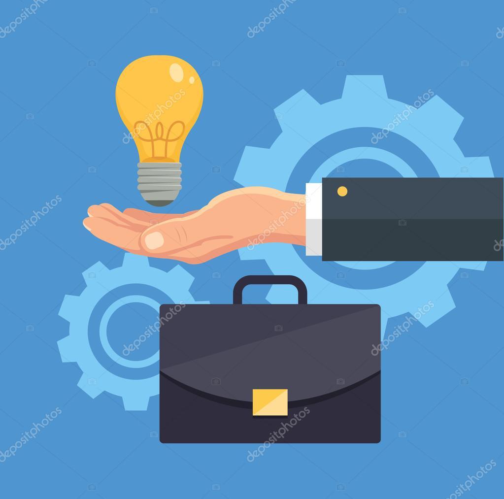 Business creative idea. Vector flat illustration