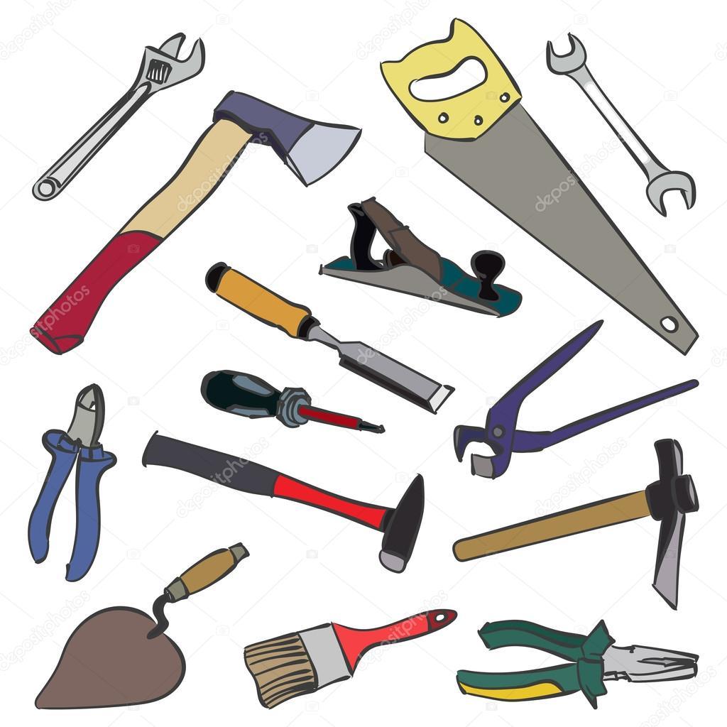 Vectores herramientas de trabajo vector de stock for Herramientas de campo