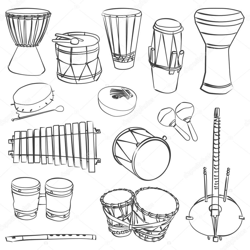 Instrumentos Musicais Tradicionais Africanos